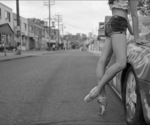 ballet, black and white, and car image