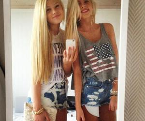 american, pretty, and blond image
