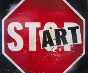 red, stop, and start image