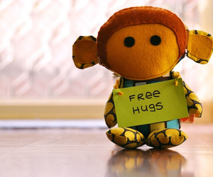 hug, cute, and monkey image