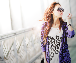 fashion, glasses, and leopard image