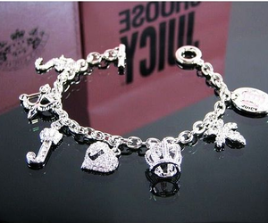 bracelet, juicy couture, and silver image