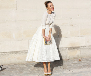 white, style, and skirt image