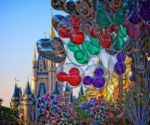 disney, balloons, and castle image