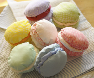 cloth, photograph, and macaroons image