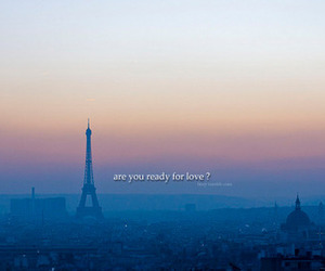 city, eiffel tower, and quote image