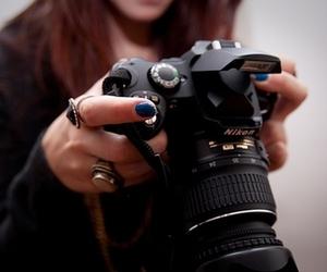 camera, nikon, and nails image