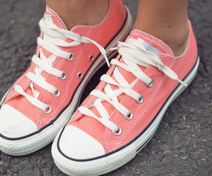 converse, shoes, and pink image