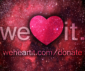 we heart it, heart, and we image