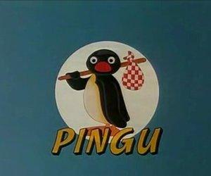 pingu and vintage image