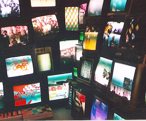 tv, television, and vintage image