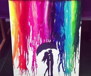 art, canvas, and kissing image