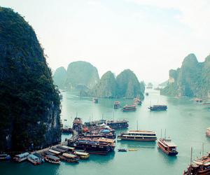 sea, Vietnam, and boat image