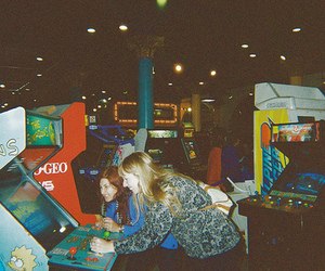 arcade, film, and friend image