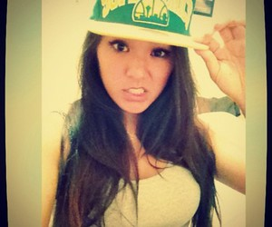 asian, green, and hat image