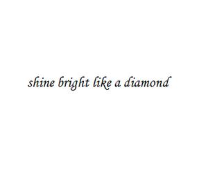 diamond, rihanna, and shine image