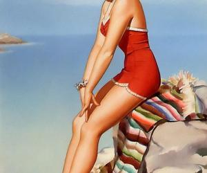 brunette, mexican, and Pin Up image