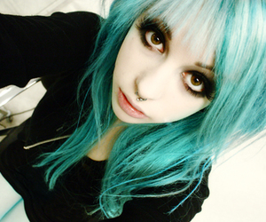 blue, hair, and septum image