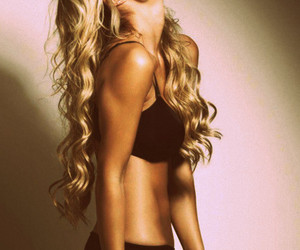 girl, blonde, and body image