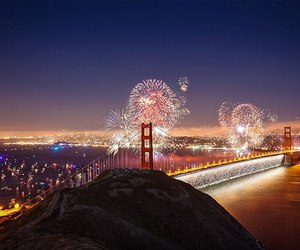 san francisco and fireworks image