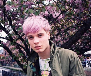 boy, pink, and pink hair image