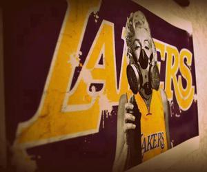 lakers, Basketball, and marilyn image