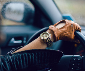 car, girl, and watch image