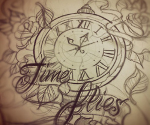 tattoo, drawing, and time image