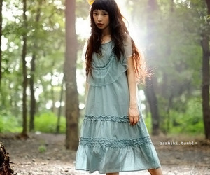 asian fashion, mori style, and natural kei image