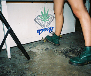 weed, boots, and diamond image