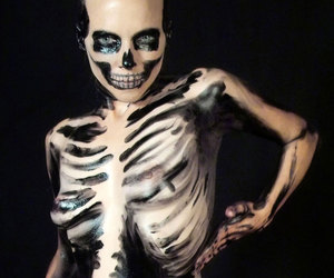 skeleton, body, and body paint image