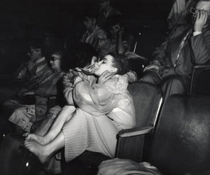 kiss, vintage, and movie theather image