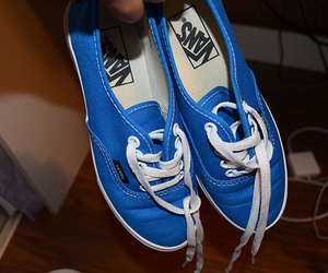vans, photography, and blue image
