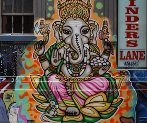 art, elephant, and graffiti image