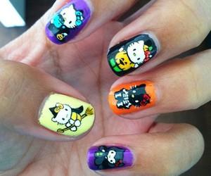 Halloween, hello kitty, and nails image