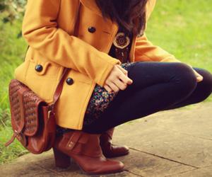 fashion, boots, and autumn image