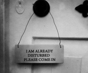 disturbed, door, and quotes image