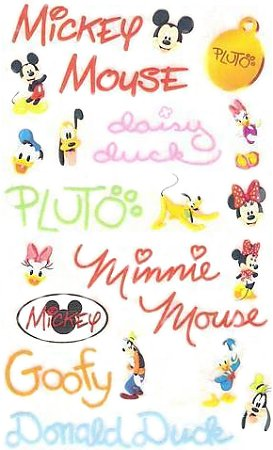 Mickey Mouse Quotes Rub-Ons #9972 :: Cartoon Rub-Ons ...
