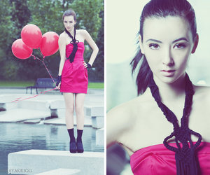 balloons, fashion, and fountain image