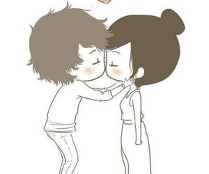 love, kiss, and boy image