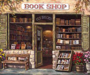 book shop, books, and library image
