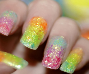 2010, glitter, and manicure image