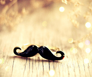 mustache and ring image