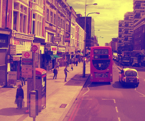 bus, london, and shopping image