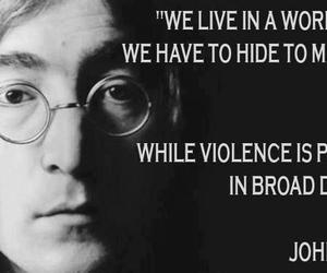 quote, john lennon, and world image
