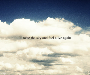alive, cloud, and words image