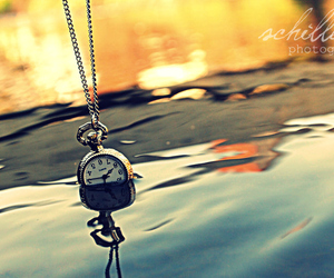 clock and water image