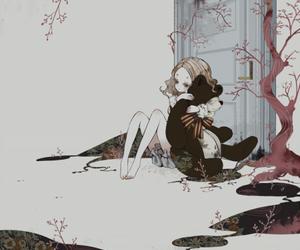girl, anime, and bear image