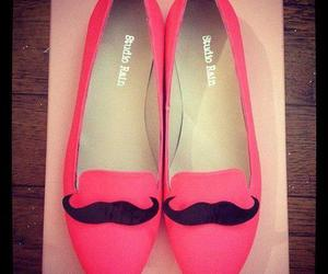 shoes, pink, and mustache image