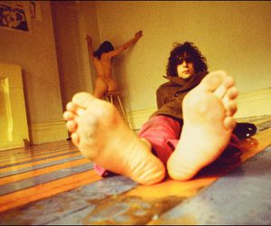 foot, smile, and Pink Floyd image